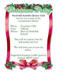 christmas party invite from ninilchik satellite rotary club