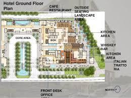 Italian Restaurant Floor Plan Hotel Casestudy Hyatt Regency Pune