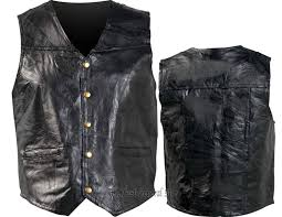 leather biker vest vests online fashion store