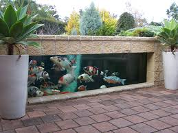 fish pool design interesting stone pathway and flooring in small