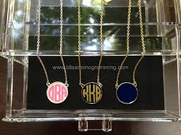 Monogram Disc Necklace Enamel Monogram Disc Necklace