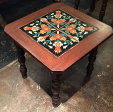 Small Mosaic Patio Table by Tiles Spanish Tile Outdoor Dining Table Spanish Tile Outdoor