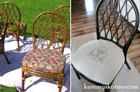 Spray Paint Wicker Patio Furniture - kammy u0027s korner rattan dining chairs makeover image transfer with