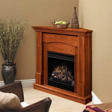 fascinating corner electric fireplace putting warm nuance on your