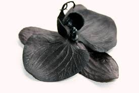 black orchid flower black orchid 3 5 inch size artificial flowers item 0628