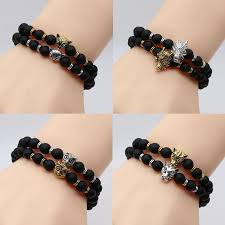 fashion stone bracelet images Fashion antique silver and gold plated owl head bracelet unisex jpg