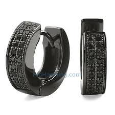 black hoop earrings 2 row huggie black cz micro pave hoop earrings black bling bling