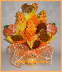 thanksgiving gift ideas cookie bouquet from ediblecrafts
