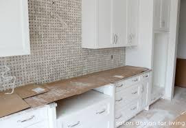Basket Weave Tile Backsplash Golden Sand Granite Was Selected - Basket weave tile backsplash