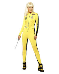 jumpsuit costume kill bill costume licensed kill bill jumpsuit horror