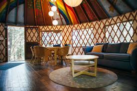 Living In A Yurt by Photos Of Enchanted Forest Yurt Shanti Permaculture Farm Ca