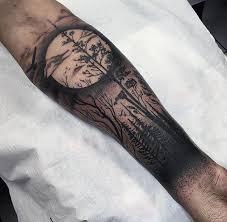 moon tree sleeve tattoos