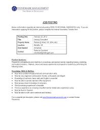 internal job posting resume marvelous design ideas internal