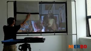 ambient light rejecting screen nierbo ambient light rejecting projection screen youtube