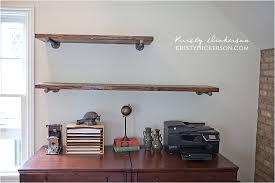 How To Make A Pipe Bookshelf Diy Office Shelves