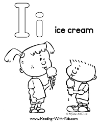 Letter I Coloring Pages Ice Cream Get Coloring Pages I Coloring Pages
