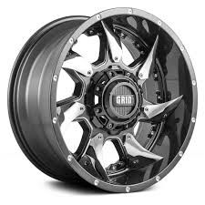 Off Road Tires 20 Inch Rims Grid Off Road Gd1 Wheels Gloss Graphite With Milled Accents And