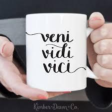 coffee cup silhouette png hand lettered veni vidi vici free svg cut file