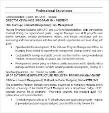 program manager pmo director resume pdf free samples examples