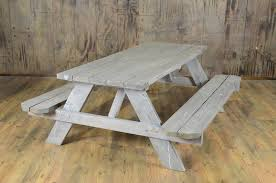 picnic table rentals 6 driftwood picnic table marquee rents party wedding