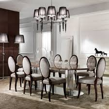 elegant dining room set furniture home large italian marble oval dining table set new