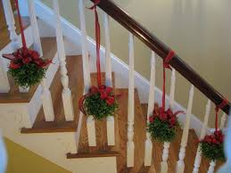Banister Garland Ideas Topiaries On The Stairs