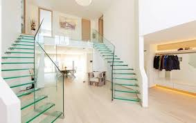 Staircase Ideas Near Entrance Glass Stairs And Glass Staircase Sillerstairs