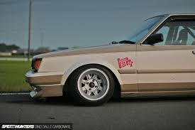 stance toyota stanced toyota carina 172 inches of head turning straight lines