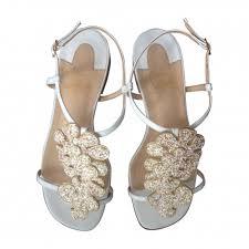 chaussures plates mariage talon louboutin christian louboutin sandales plates blanc