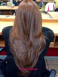 back of hairstyle cut with layers and ushape cut in back this is perfect long v shaped layered texted hair cut see haircut