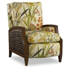 zephyr recliner with banana leaf frame by sam moore home gallery