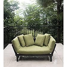 amazon com outdoor futon convertible sofa daybed deep seating