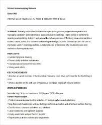Sample Housekeeper Resume by Resume Example Housekeeping Resume Format Housekeeping Supervisor