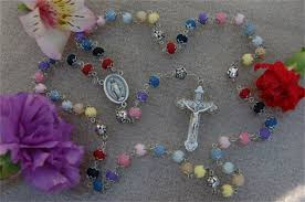 petal rosary floral rosary rosaries flower jewelry