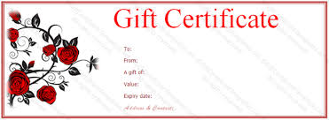 valentine gift certificate gift certificate templates