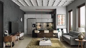 kitchen mid century modern apartment kitchen decor refrigerator