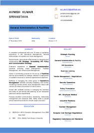 On Job Training Resume by Resume Avnish Kumar Srivastava