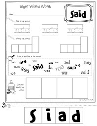 words worksheets for kindergarten koogra