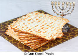 unleavened bread for passover closeup of matzah bread served at passover dinners