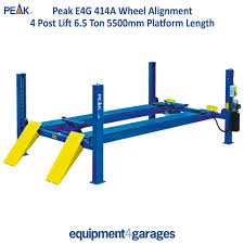 wheel alignment 4 post lift peak amgo