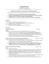 Supply Chain Resume Format Target Resume Samples Samples Opulent Design Ideas Target Resume