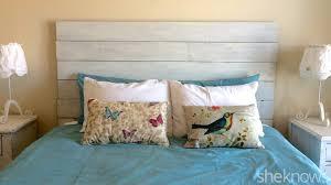 diy headboard diy wooden headboard makes your bedroom instantly farmer chic