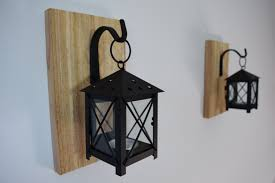lighting black wall sconces for candles with black iron hanging