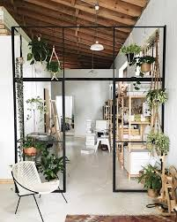 Hanging Room Divider Interior Eco Friendly Interior Design With Plant Decor And