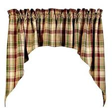 Country Plaid Curtains Green Plaid Curtains New Country Brandywine Burgundy Sage Green