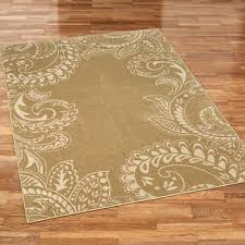 Paisley Area Rugs Kamaria Golden Bronze Paisley Area Rugs