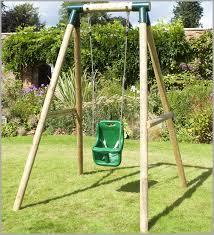 baby swing swing set swing set with baby swing 5505 rebo pluto baby wooden garden swing