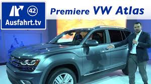 volkswagen atlas 7 seater weltpremiere volkswagen vw atlas usa youtube