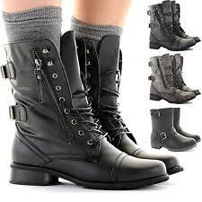 womens combat boots uk s combat boots ebay