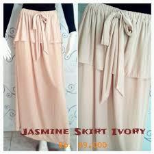 rok panjang muslim new skirt ivory baju muslim gamis modern